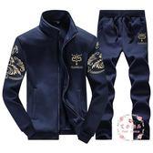 男士衛衣套裝大尺碼 正韓 長袖兩件套(M-9XL)
