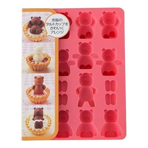 =超夯商品=貝印 COOKPAD 小熊風呂矽膠模型-可做巧克力/果凍/蛋糕/冰塊/手工皂