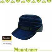 【Mountneer 山林 中性 3M鋪棉耳罩軍帽《丈青》】12H02/內刷毛/防風/透氣