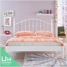 歐式鄉村風菲柏5尺雙人白色鐵床架 | 民宿愛用款 (JX/482-1)【UR DESIGN 寢室】