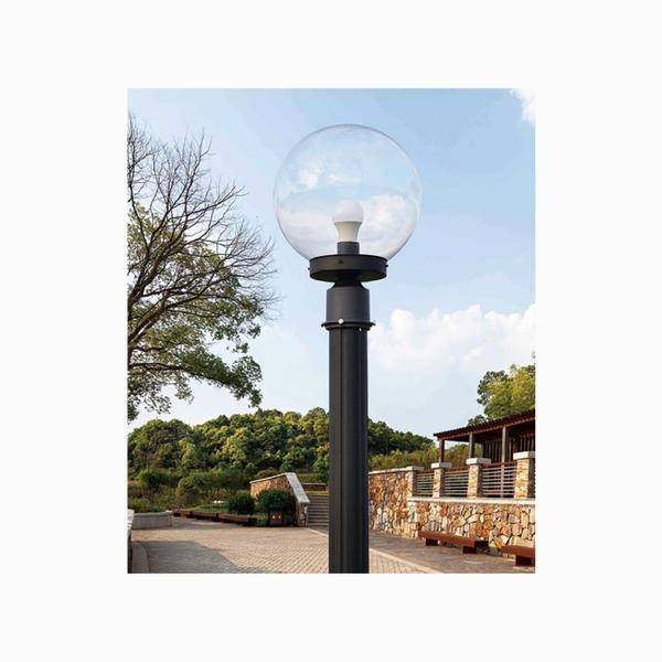 25cm戶外庭園燈 10吋透明球 76mm插管 塑膠球 戶外燈 立燈 可搭配LED 庭園造景 景觀設計 現貨
