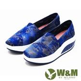【W&M】BOUNCE厚底增高休閒鞋 女鞋-藍(另有黑、米)