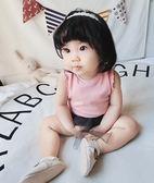 【618】好康鉅惠2018夏裝兒童韓版木耳邊無袖薄嬰肚小背心