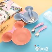 可愛兒童彎頭勺叉子寶寶學吃飯訓練勺叉輔食餐具套裝【奇趣小屋】