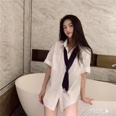 白襯衫同款上衣直播衣服女主播服裝上鏡性感甜美氣質誘惑上衣 提拉米蘇