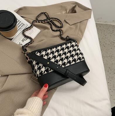 水桶包 網紅時尚水桶包爆款小包包女2021新款潮高級鏈條包質感單肩斜挎包【快速出貨八折優惠】