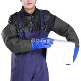 橡膠手套勞保手套加長加厚防寒防滑酸堿捕魚『獨家』流行館
