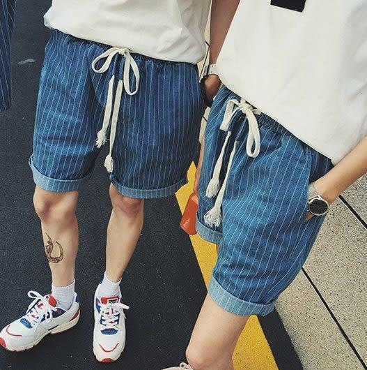 【找到自己】 質感 兩件式套裝 牛仔外套 牛仔短褲 條紋牛仔 外套襯衫 短褲 春夏 兩件組合