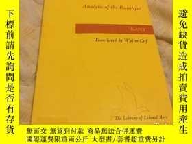 二手書博民逛書店Analytic罕見of the beautiful, from
