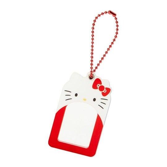 〔小禮堂〕Hello Kitty 造型壓克力相片吊飾《紅白》鑰匙圈.掛飾.演唱會粉絲收納系列 4901610-15025