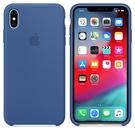 Apple iPhone XS Max 原廠矽膠護套 iPhone XS Max 原廠保護殼【瓷藍色】 美國水貨 原廠盒裝