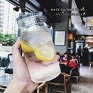 水杯簡約透明單層加厚耐熱玻璃水瓶...
