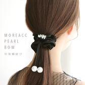 發圈蝴蝶結頭繩韓國頭飾品簡約小清新飄帶仿水晶發飾扎頭發繩皮筋