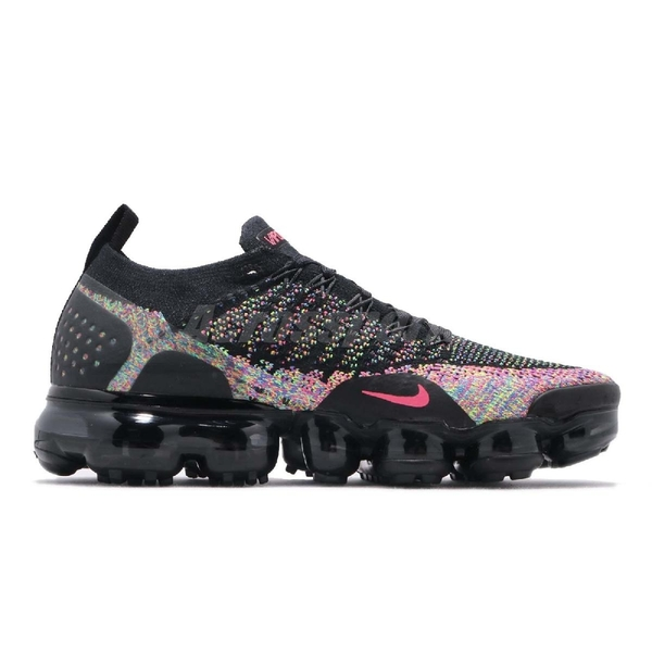 Nike Wmns Air VaporMax Flyknit 2 Black Multicolor 黑 彩色 飛線編織 大氣墊 運動鞋 女鞋【PUMP306】 942843-015