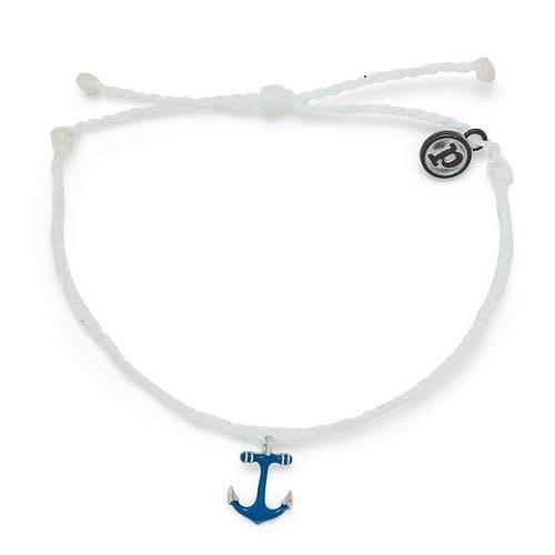 Pura Vida 美國手工 Anchors Away藍色船錨 白色蠟線衝浪手鍊手環