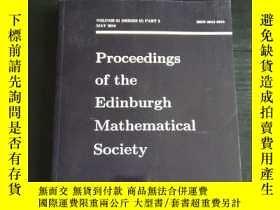 二手書博民逛書店Proceedings罕見of the Edinburgh Ma