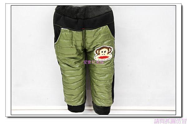☆╮寶貝丹童裝╭☆【韓版】小猴子 亮面 造型 泡泡褲 休閒長褲 新款 現貨 ☆