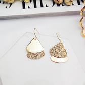耳環 幾何 金屬 三角形 吊墜 個性 氣質 耳鈎 耳環【DD1805063】 icoca  05/24