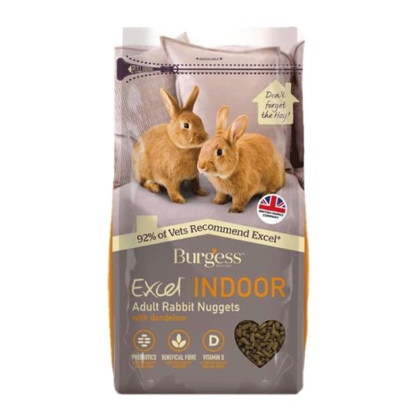 《英國伯爵》Burgess Excel 室內成兔專用/蒲公英&蕁麻 1.5KG