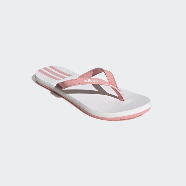 Adidas Eezay Flip-Flops女款粉白色輕便夾腳拖鞋-NO.EG2035