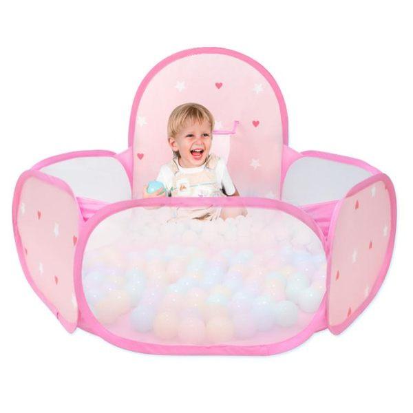 遊戲帳篷玩具禮物海洋球池圍欄兒童帳篷室內公主家用折疊投籃游戲女孩igo 貝兒鞋櫃