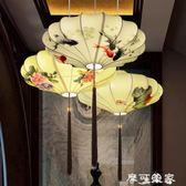 中國風新中式仿古燈具禪意餐廳客廳茶樓創意吊燈古典藝術手繪燈籠 igo摩可美家
