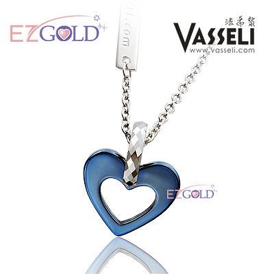 VASSELI ◤藍寶心◢ 鎢鋼墜飾