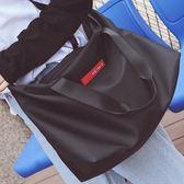 短途旅行包女手提包韓版輕便行李包簡約旅行袋大包男電腦包健身包-黑色地帶