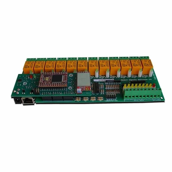 Denkovi 12通道繼電器模塊(10A) 12VDC 16 Analog/Digital Input 無線WiFi TCP/IP VB Web 電子郵件 [2美國直購]