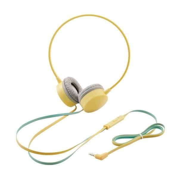 [衣林時尚] ELECOM OH200 耳罩式耳機(黃) 精美禮盒