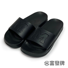 【富發牌】大M字全黑拖鞋-黑 FBS06...