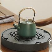 陶瓷日式干泡壺粗陶禪意泡茶壺手工家用功夫茶具仿古茶壺 【好康八八折】