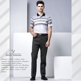 【Emilio Valentino】范倫鐵諾都會型男平面休閒褲_墨綠