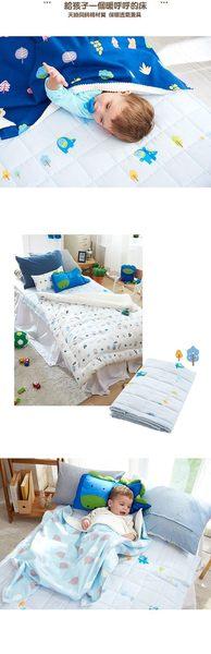 ☆愛兒麗☆Milo&Gabby 兒童天絲床墊(藍色樹林)