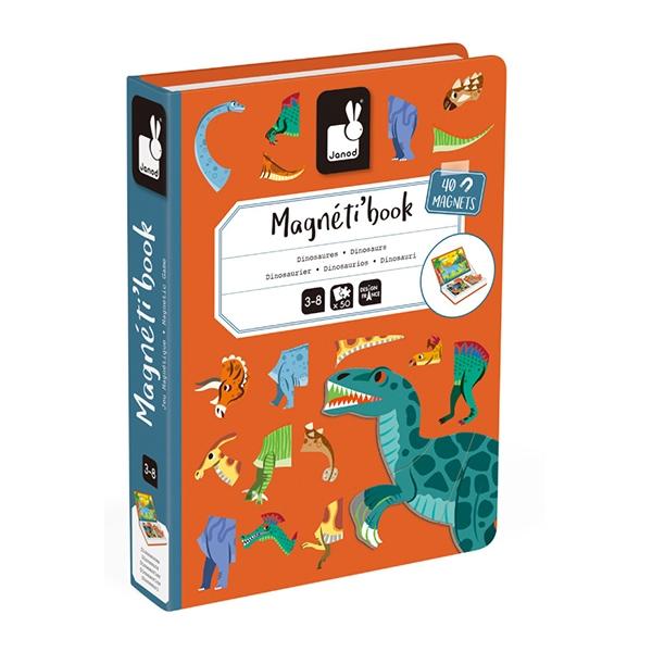 【法國Janod】磁鐵遊戲書-恐龍世界