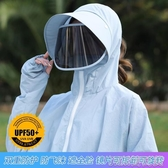 遮陽帽女夏天戶外騎車出游太陽帽遮臉面罩防紫外線防曬 簡而美