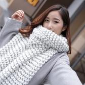 圍巾女冬季學生日系秋冬季加長厚男毛線韓版百搭針織情侶少女圍脖 東京衣櫃