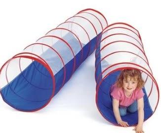 [協貿國際]  幼兒園寶寶爬行隧道鑽洞滑梯兒童玩具 (1入)