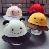 黑五好物節 毛呢盆帽1男童寶寶漁夫帽2女童昆蟲帽潮款【名谷小屋】