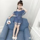 女童夏裝套裝2020新款兒童吊帶衫短褲洋氣兩件套時髦網紅童裝潮 EY11772【MG大尺碼】