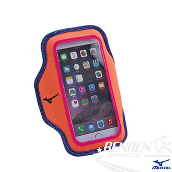 MIZUNO美津濃手臂包 (橘)  雙翼型 5.5寸 可用 IPHONE 6/6 PLUS 運動用