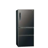 Panasonic國際牌610公升三門變頻鋼板冰箱絲紋黑NR-C611XV-V