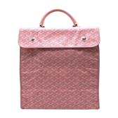 【台中米蘭站】展示品 GOYARD 塗層帆布直式手提公事包(粉)