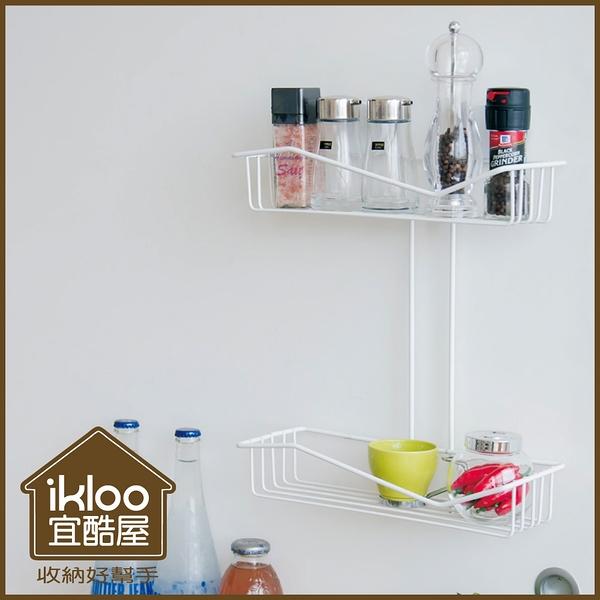 【ikloo】多功能雙層置物籃(TACO無痕吸盤)