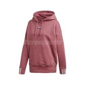 adidas 長袖T恤 R.Y.V. Hoodie 粉紅 白 女款 帽T 運動休閒 【PUMP306】 EJ8565