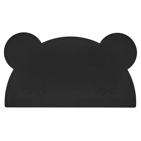 澳洲 We Might Be Tiny 矽膠防滑餐墊熊寶寶-時尚黑