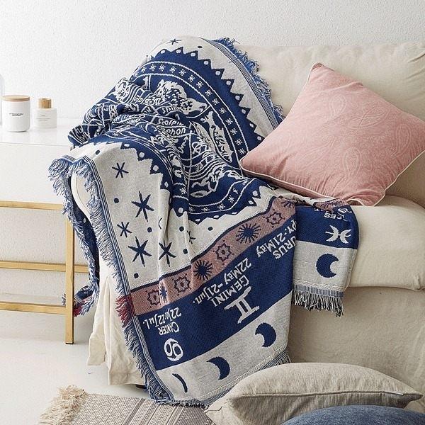 北歐純色緹花沙發巾 沙發布 全蓋沙發套 沙發墊 防塵布 線毯15 (180*230cm)