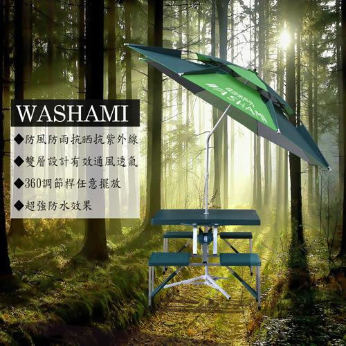 【韓式情人】WASHAMl-萬向衛星傘雙層透氣(傘面2.2M)