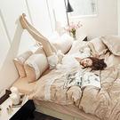 床包被套組 / 雙人特大-獨家布蕾絲【巧克布蕾】含兩件枕套,100%精梳棉,在巴黎遇見,戀家小舖