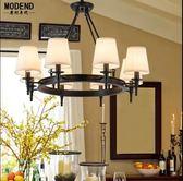 美式鄉村客廳吊燈簡約溫馨主臥室餐廳鐵藝田園燈歐式大氣書房吊燈